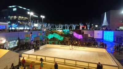 "The winter illumination went on tonight (November 16, 2016) in ""the pit"" at Tsukuba Center - this year there will also be a skating-rink open to the public, for a fee, thru the end of the year."