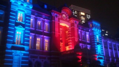 Christmas Day 2014- The Tokyo Station illuminated for its 100th anniversary