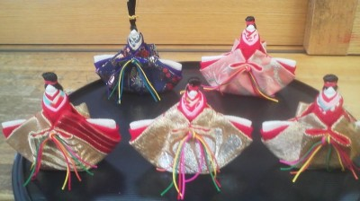 Hina Dolls made out of scraps of kimono cloth (Hojo, Tsukuba)