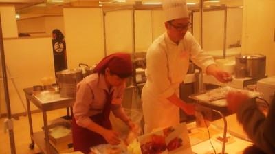 The chef from one the restaurants at the Tsukuba Okura Hotel