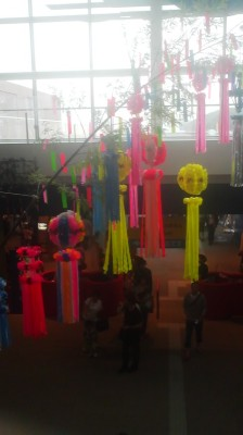 Tanabata decorations at the aquarium in Oarai ( July 5, 2015)