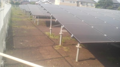 Solar-panel system where are bamboo grove once rustled