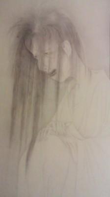 A Ghost Leaning Against a Pillar- Iijima Koga (1874)
