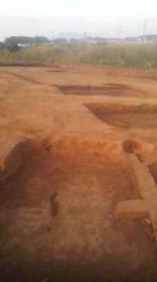 Archaeogical dig in Shimana, Tsukuba