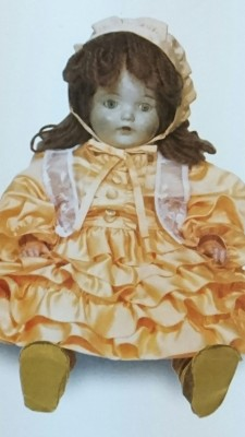 """One of the 12,739 """"Friendship Dolls sent to Japan by Americans in the year 1927 - most of them were destroyed during the war, but as of this year (2015)  331 of the """"Blue-eyed Dolls"""" as they were called - a moniker immortalized in a song by lyricist Noguchi Ujo, have been accounted for. This doll had been buried on the grounds of the Tsuchiura Kindergarten."""
