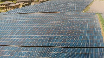 Gray future. Let`s keep the solar panels on the roofs and over the parking lots w here they belong. We don`t have to cut down the forest or cement-over the vegetable fields to install them