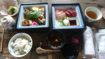 A special cherry-blossom party lunch set at INSHO-TEI ( 韻松亭) in Ueno Park - definitely worth the splurge ( about 3,500 yen per person)