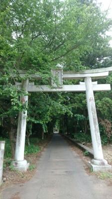 Torii gate leading to the Ichinoya Yasaka Jinja