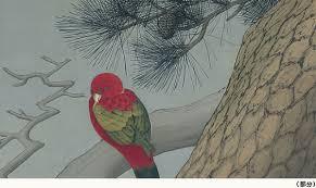 Pine Tree and Parrot by Satake Shozan Lord of the Akita Domain