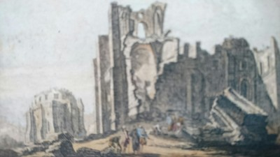 One of the last pieces being shown (in fact it`s just by the exit) is this novelty - a depiction of Lisbon in ruins after the great earthquake of the 18th century. This was one of the Western paintings that Odano and other could study as they tried to master European techniques of perspective, chiaroscuro, etc.