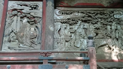 One of my favorite places in the whole Mt. Tsukuba Region is this all but forgotten shrine - Yahashira Jinja, adorned with a fantastic riot of carvings.