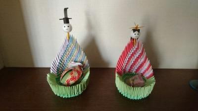 Origami hina dolls in Namiki, Tsukuba