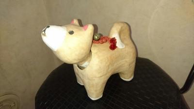 Papier-mache dog