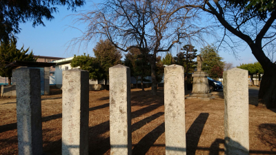 The spot where the ho-an-den once stood at the Katsuragi Elementary School